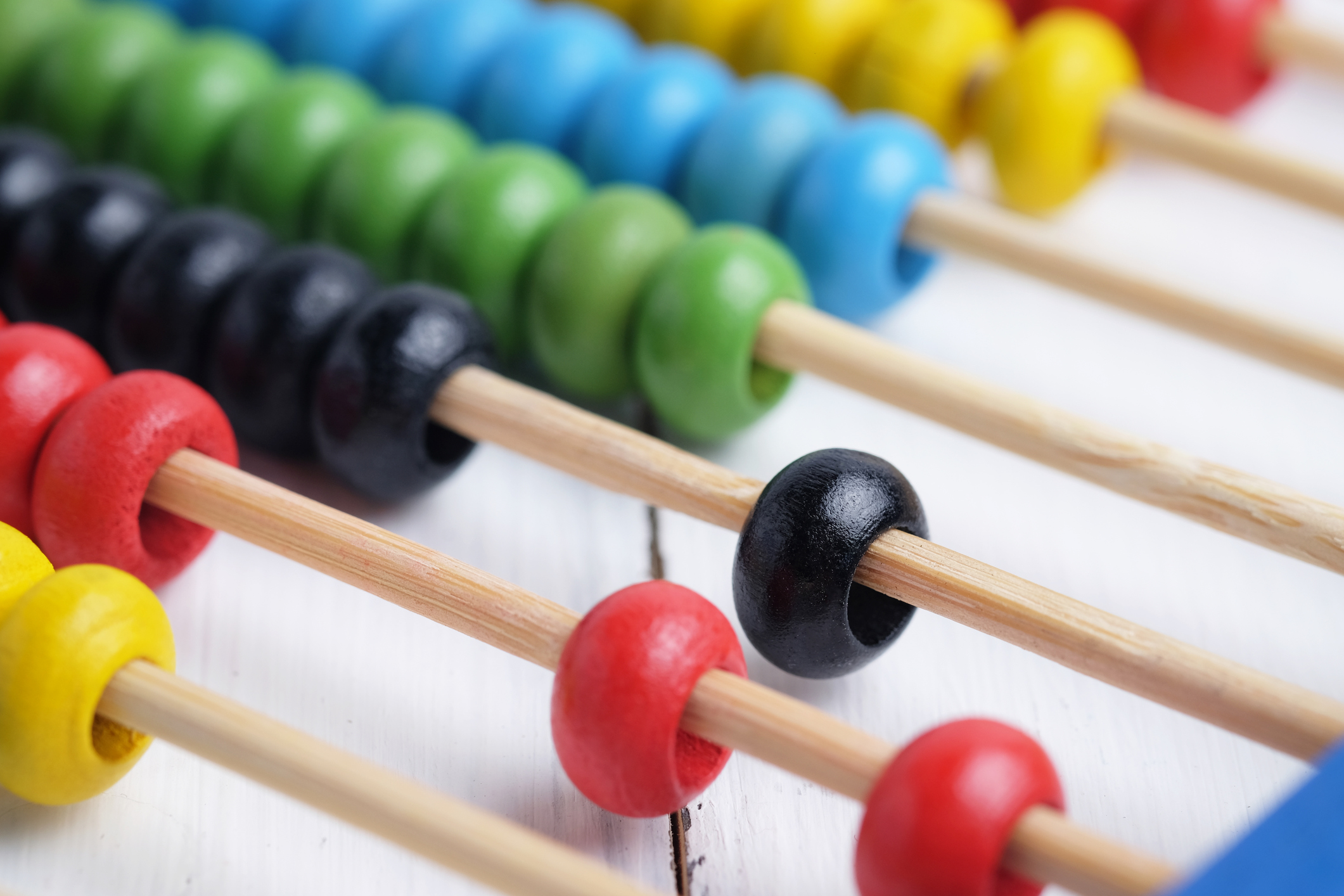 An image of a colorful abacus for counting.