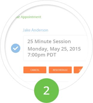 Easy to schedule online video tutoring.